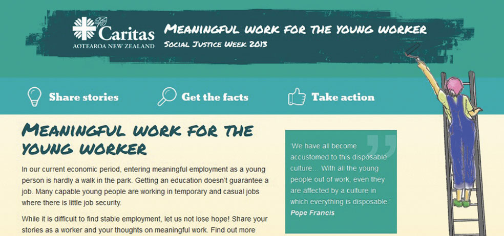 Caritas: Social Justice Week 2013 Archdiocese of Wellington