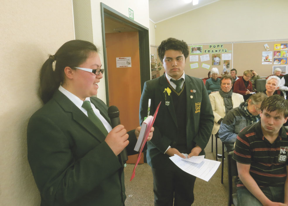 St Peter's student addresses work meeting in te reo Archdiocese of Wellington