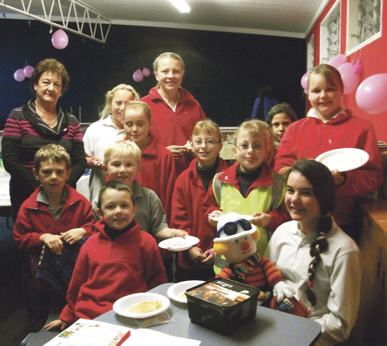 Young Vinnies in the pink for breast cancer fundraising Archdiocese of Wellington