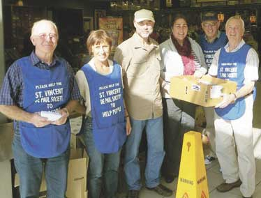 Shoppers benefit Vinnies foodbank Archdiocese of Wellington