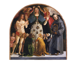 Madonna of Mercy and Saints Sebastian and Bernardino da Siena, Luca Signorelli.