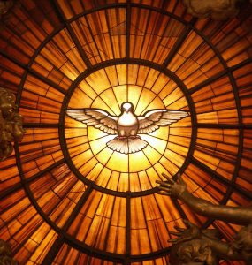 Gian Lorenzo Bernini – Dove of the Holy Spirit – ca. 1660, stained glass, Throne of St Peter, St Peter's Basilica, Vatican.  Photo: Wikimedia Commons/Dnalor