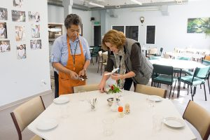 The dignity of the individual is utmost – Karen and Josephina prepare for guests.