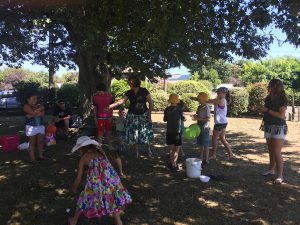 Children and families having fun at Pleroma's Children's Day Picnic put on for the local community.