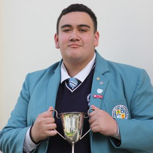St Patrick's College Silverstream's Albert Fairbrother won the Bishop Cullinane Cup for Oratory, Section B.