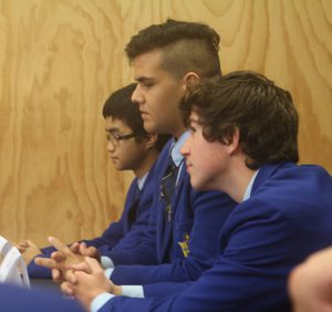 St Bernard College students Paulo Lopez, Matt Rothwell and Jack Masra answer religious questions.