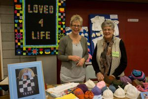 Helen Thompson, National Leader, and Barbara Ratcliffe volunteer from of Our Lady of Kapiti Parish. 'Our goal is to reach out to newborn babies and their families to show them they are cared for.'  Photo: Annette Scullion