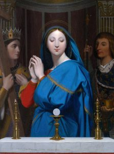 The Virgin of the Host, 1854, Jean Auguste Dominique Ingres, Musee D'Orsay, France. Image: Wikimedia Commons