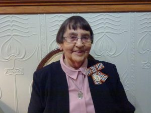 Queens Service Medal awarded to Sr Mary Scanlon lcm for services to Mary Potter Hospice.