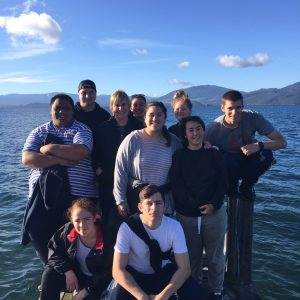 Gap students on retreat in Kuratau, on the western side of Lake Taupo.