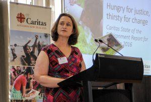 Caritas Aotearoa NZ Director Julianne Hickey launches new report. Photo: Crispin Anderlini