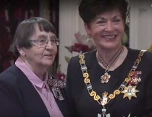 Governor General Dame Patsy Reddy and Sister Mary Scanlon lcm.