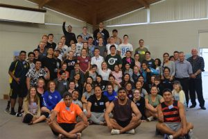 Archdiocese of Wellington Young Catholic Leaders at camp.