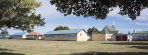 St Joseph's School and St Peter's Church.