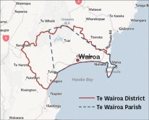 Indicative borders of Wairoa District and Parish.