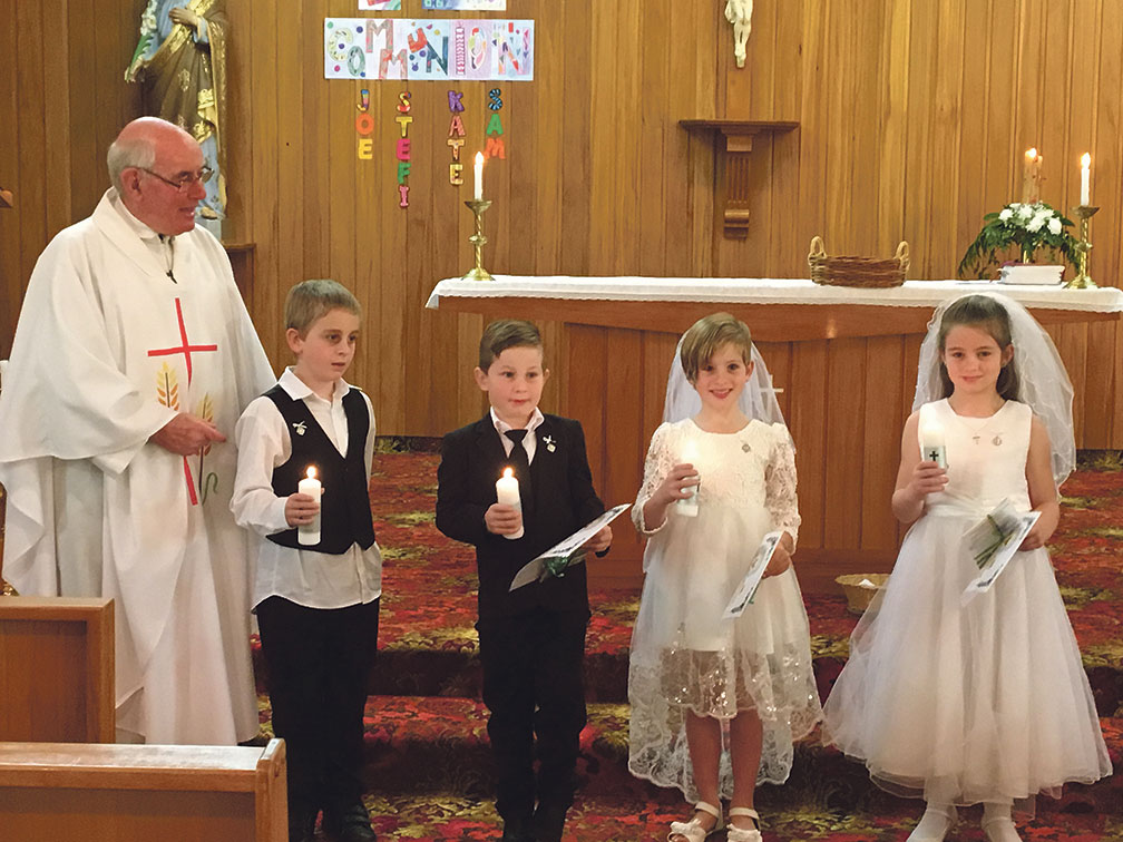 Kaponga First Communion Archdiocese of Wellington