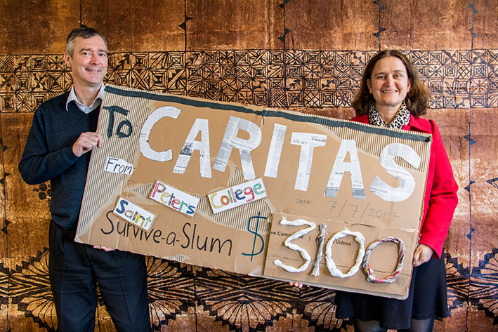 Caritas Challenge Cheque Archdiocese of Wellington