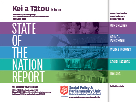 Salvation Army State of the Nation Report 2018 says more Kiwis in poverty Archdiocese of Wellington
