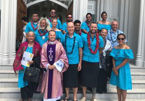 Samoa Voyaging Society visits St Mary of the Angels Archdiocese of Wellington