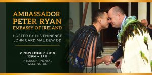 Irish Ambassador speaker at upcoming Cardinal's Lunch Archdiocese of Wellington