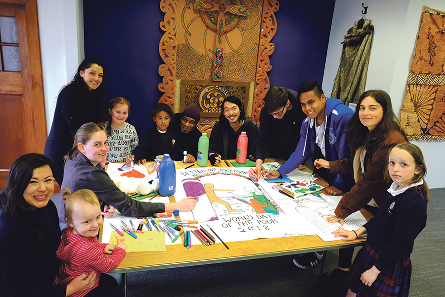 Young people prepare for World Day of the Poor Archdiocese of Wellington