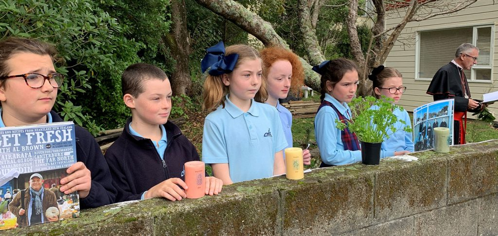 Garden to Table Blessing at Cardinal McKeefry School Archdiocese of Wellington
