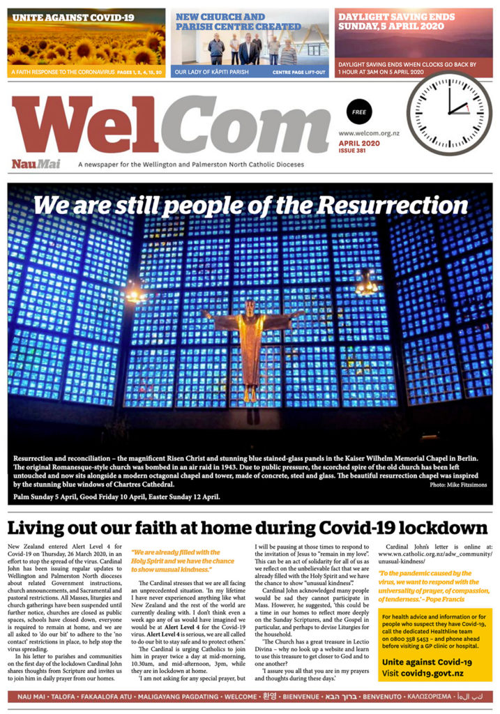 WelCom April 2020, Issue 381 Archdiocese of Wellington