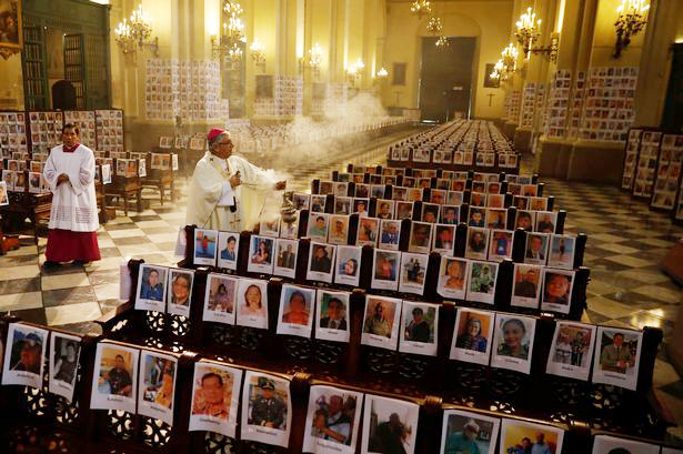 Cathedral filled with portraits of Covid-19 victims Archdiocese of Wellington