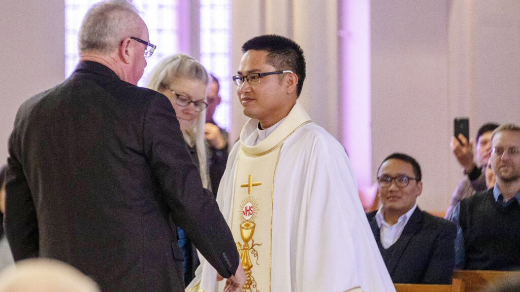 Newly ordained priest for Palmerston North Diocese Archdiocese of Wellington