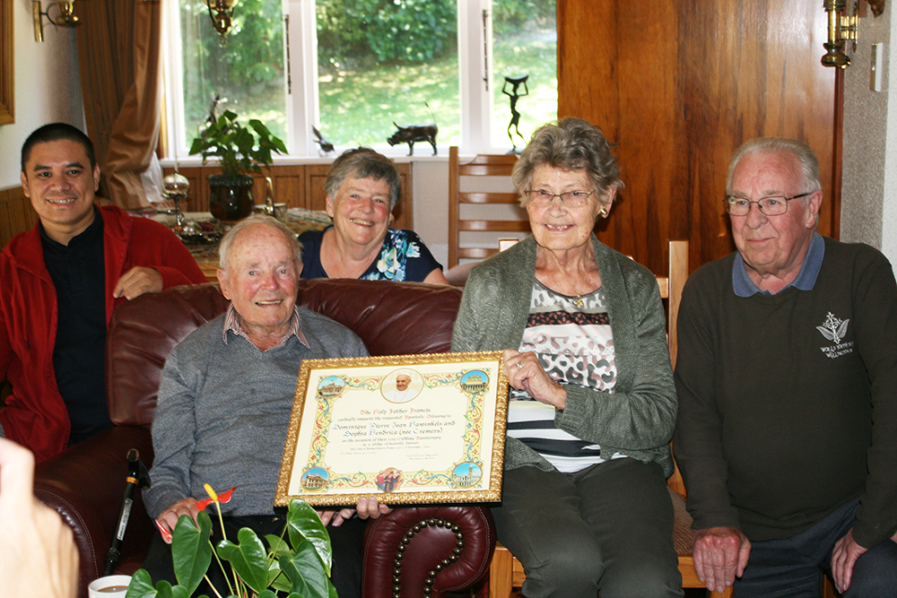 Apostolic Blessing marks 60 years' married Archdiocese of Wellington