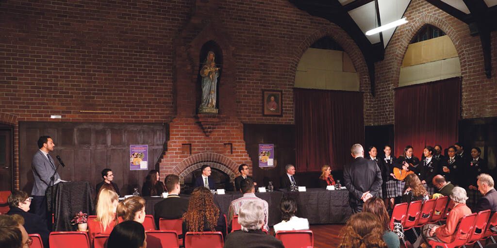 Young people question politicians on climate change Archdiocese of Wellington