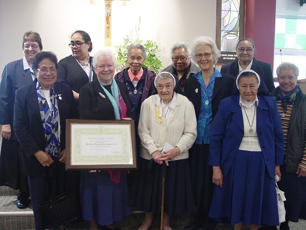 Benemerenti Medal for dedicated Sister Archdiocese of Wellington