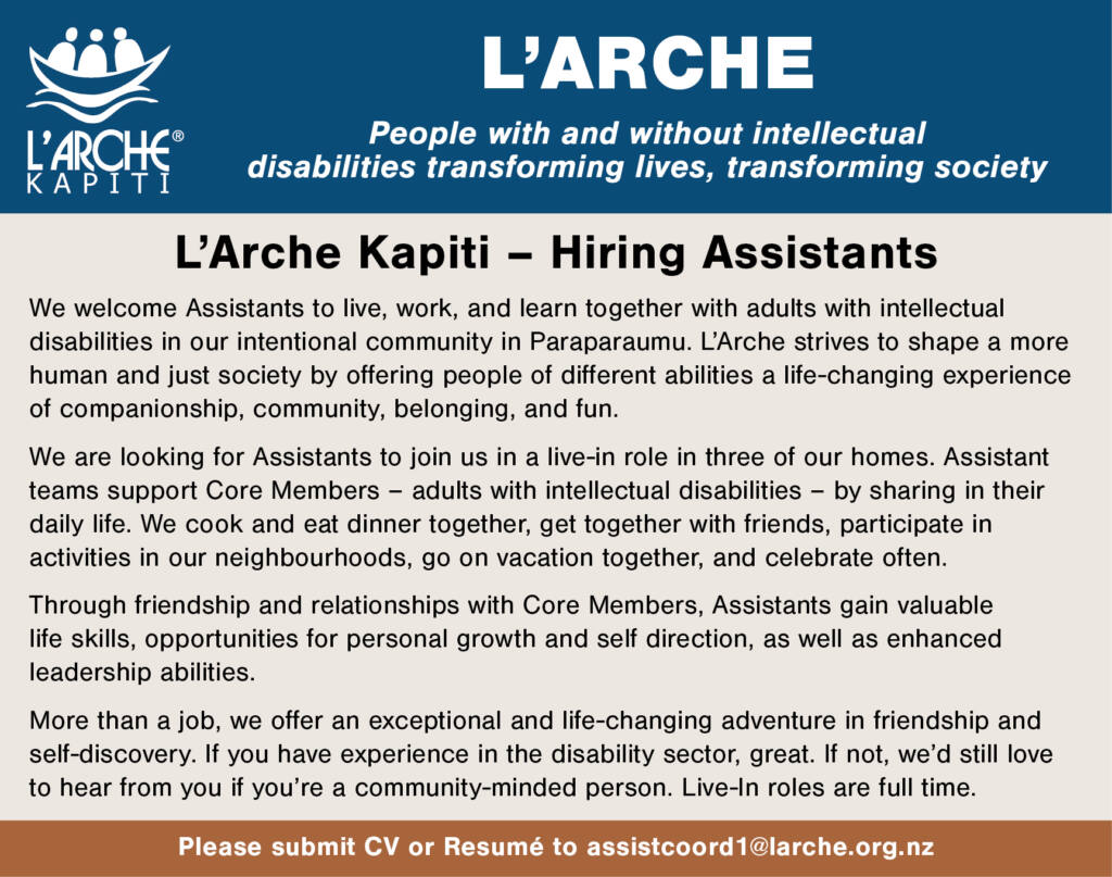 L'Arche Kapiti – an intentional community Archdiocese of Wellington