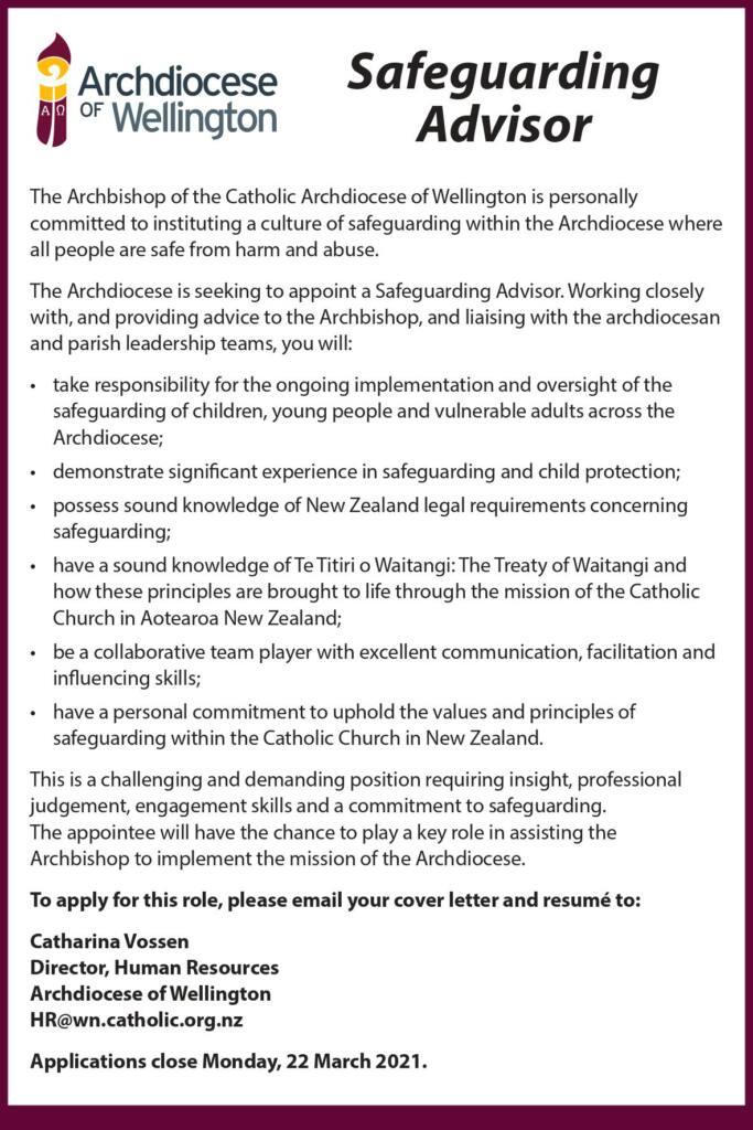 Vacancies Archdiocese of Wellington