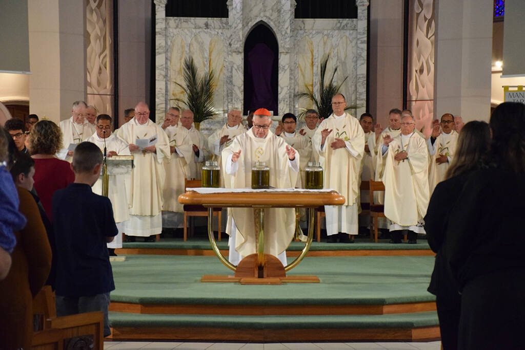 Chrism Mass at the Cathedral of the Holy Spirit Archdiocese of Wellington