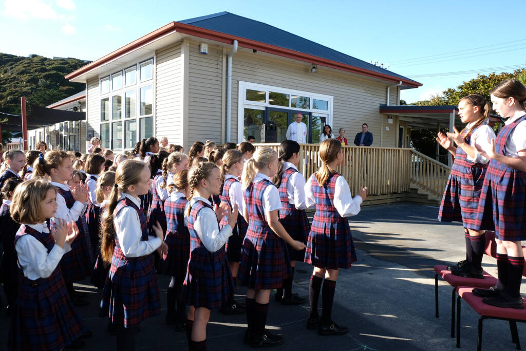 Archbishop Paul Martin blesses new classrooms Archdiocese of Wellington