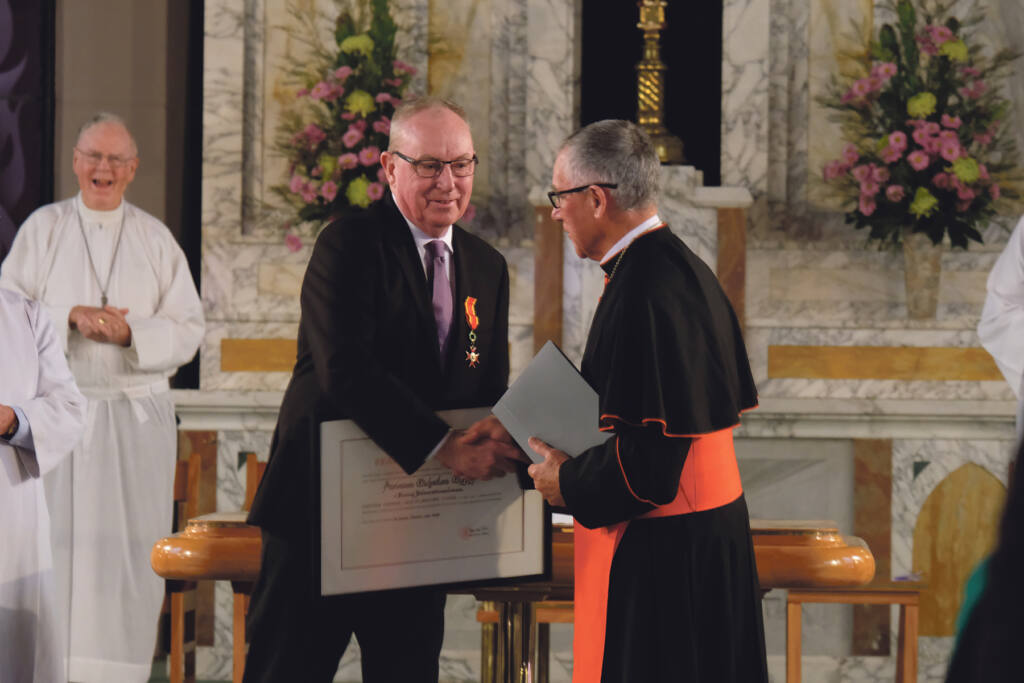 Service awarded with high papal honour Archdiocese of Wellington