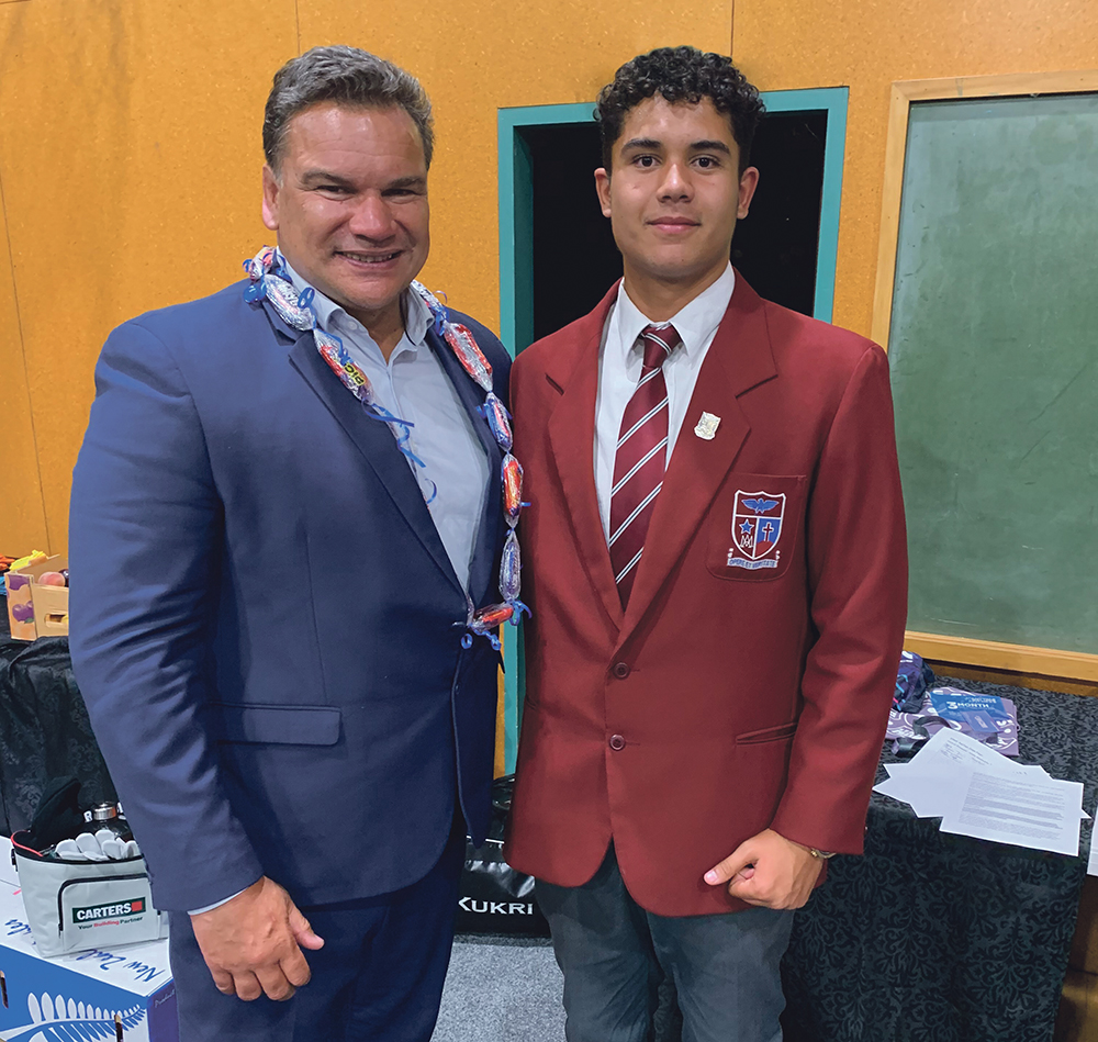 Rugby legend inspires students at St John's College Archdiocese of Wellington